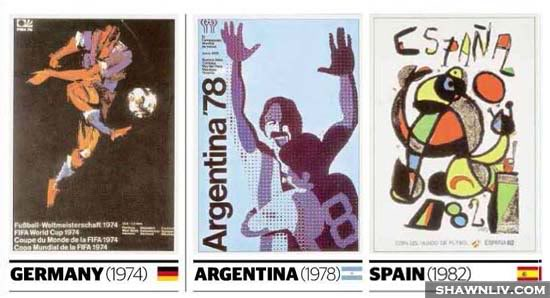 Official FiFa World Cup Posters Art from 1974 to 1982