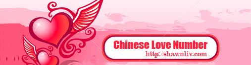 Chinese Love Numbers