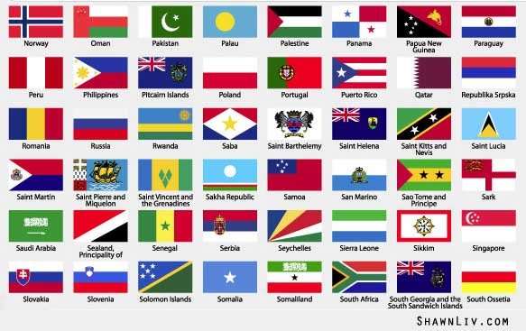 World Flags in Vector