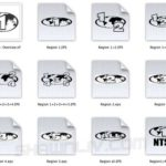 Giveaway A Collection of DVD Regions in Oval & Square